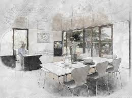Interior House Drawing Free Photo Interior Home Architecture Design Drawing Sketch Max