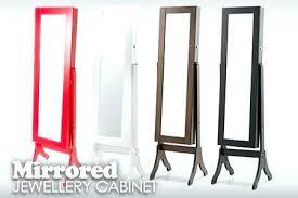 floor length mirror cabinet full length mirror cabinet chic full length mirrored jewellery