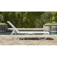 Grand Resort Patio Furniture Grand Resort Aluminum Pvc Strap Lounge Limited Availability