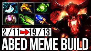 Meme Dota - crazy magic combo meme build abed shadow fiend wtf dota 2 youtube