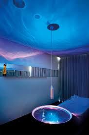 theme for bathroom bathroom design stunning futuristic blue theme bathroom hotel