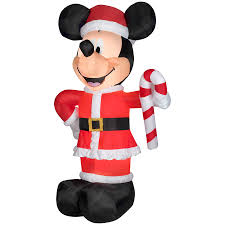 shop disney 10 49 ft x 3 34 ft lighted mickey mouse christmas
