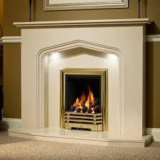 interior stunning home designs using rectangular gold fireplace