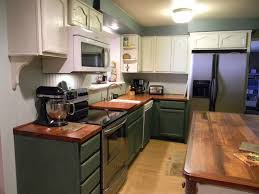 Green Country Kitchen Furniture Green Country Kitchen Paint Cabinet With Wood
