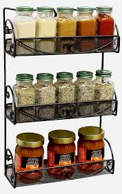 Wall Mount Spice Rack With Jars Amazon Com Decobros 3 Tier Wall Mounted Spice Rack Bronze