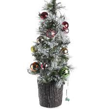 decorated pre lit tabletop artificial tree
