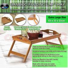 Breakfast In Bed Table by Wooden Bamboo Folding Tray Bamboo Fold Up Lap Tray Tea Coffee