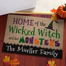 halloween doormat pbs personalized halloween gifts and decor christmas gifts