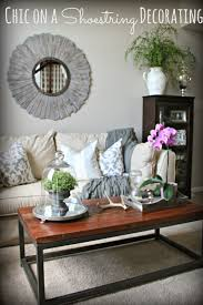 chic on a shoestring decorating living room makeover on a budget