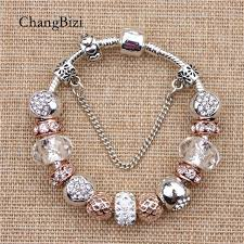 bracelet charms pandora jewelry images Yilianfei white peach zircon chamilia beads diy fashion cute jpg