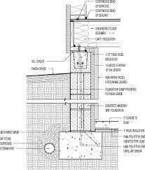Concrete Block Floor Plans Insulated Basement Concrete Block With 1 1 2in Interior Rigid