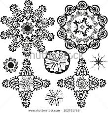 indian style ornamental floral shapes patterns stock vector