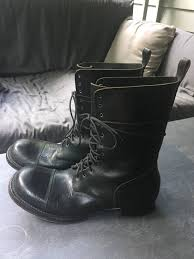 men s tall lace up motorcycle boots julius tall lace up military boots size 9 5 boots for sale grailed