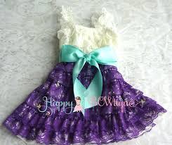 purple ivory aqua bow lace dress baby purple lace