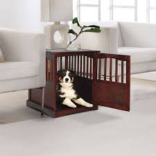 newport pet crate end table end table pet crates at brookstone buy now