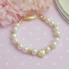 children s bracelets heart of gold baby bracelets with 14kt gold puffed heart and