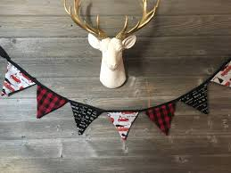 christmas bunting red farm truck bunting holiday home decor