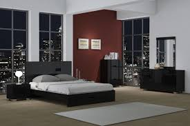 bedroom set black global united aria bedroom set black global united