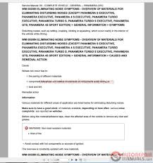 porsche panamera service repair workshop manual auto repair