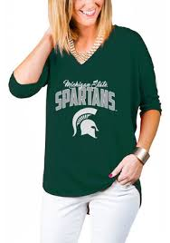 gameday couture michigan state spartans womens green weekender t