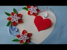 paper quilling how to make a birthday gift greeting card