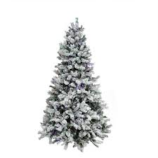 7 5 u0027 pre lit flocked layered utica fir artificial christmas tree