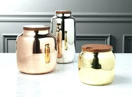 copper canisters kitchen copper kitchen canisters 3 capsule canister set copper kitchen