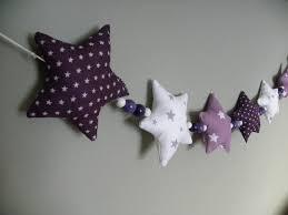 guirlande pour chambre bébé guirlande de 8 étoiles en tissu et perles de bois aw creations