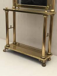Hallway Table And Mirror Neoclassical Brass Hall Tree Mirror Coat Hanger And Console Table