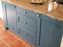 Blue Painted Kitchen Cabinets Painting Kitchen Cabinets With General 2017 Milk Paint Pictures