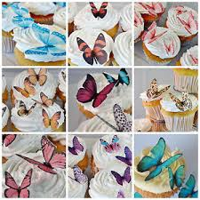 butterfly cake toppers edible butterfly cake decorations butterflies cupcake toppers
