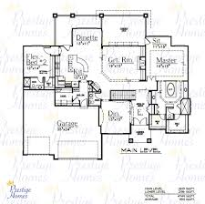 One Story Open Concept Floor Plans Simple Four Bedroom House Plans New One Floor Cabin With Smart