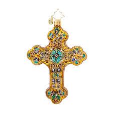 radko 1017773 byzantine emblem religious jeweled cross