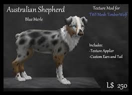 australian shepherd wolf second life marketplace ksi twi timberwolf mod aussie shep