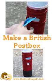 how to make a cardboard tube postbox crafts for kids u2014 the