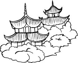 pagodas chinese culture coloring page countries u0026 culture