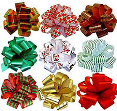 christmas gift bow christmas gift pull bows 5 wide set of 9