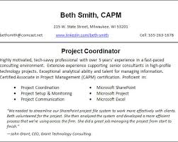 Sample Resume Project Coordinator by Example Cv Customer Service Manager