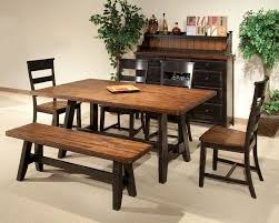 Kitchen Table Sets With Bench Seating Bench Table Set Dark Cherry Traditional Dining Table Dark Cherry