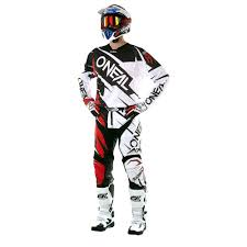 oneal motocross jersey oneal 2017 hardwear flow jag jersey pant package white red