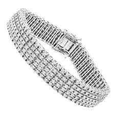 sterling silver bracelet with diamonds images Row mens diamond tennis bracelet in sterling silver 1 75 carat jpg