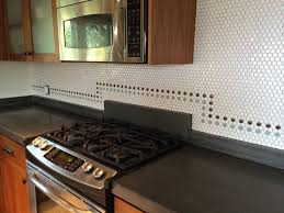 penny round backsplash installing penny tile fix it up woman 30