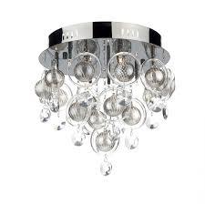 Flush Ceiling Lighting by Clo1367 Cloud 9 Light Flush Ceiling Light In Black Chrome