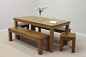 French Farmhouse Ft Rustic Solid Oak Dining Table  X Ft - Rustic oak kitchen table