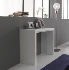 white gloss console extending dining table new by tomasucci idee