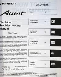 2004 hyundai accent manual 2004 hyundai accent electrical troubleshooting manual wiring