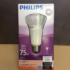 75 watt led light bulbs philips 75 watt equivalent a21 led light bulb 1145 lumens soft white