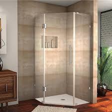 Neo Shower Door Aston Neoscape Completely Frameless Neo Angle Hinged Shower