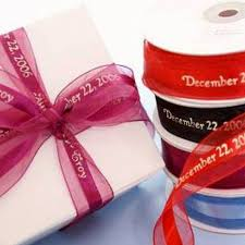 personalized ribbon for wedding favors 7 8 continuous personalized ribbon favor boxes 25 yard efavormart