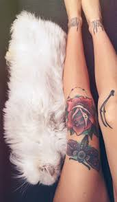 female leg tattoos rose and moth knee tattoo tattoos pinterest knee tattoo